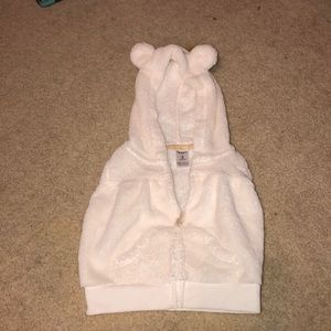 Carters polar bear vest